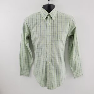 Brooks Brothers Dress shirt fitted plaid p50